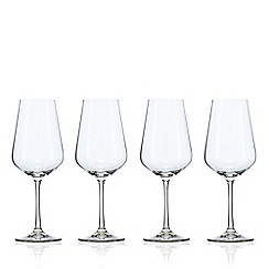 J by Jasper Conran - Set of 4 crystal 'Calvello' large red wine glasses