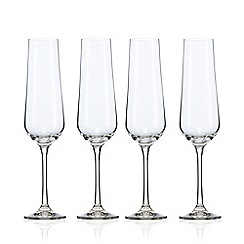 J by Jasper Conran - Set of 4 crystal 'Calvello' champagne flutes
