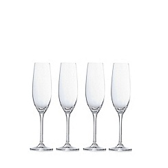 J by Jasper Conran - Set of 4 'Audley' champagne flutes
