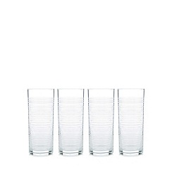 Home Collection Basics - Set of 4 striped highball glasses