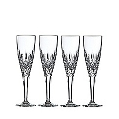 Royal Doulton - Set of 4 lead crystal 'Highclere' champagne flutes