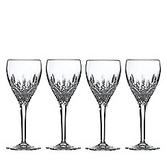 Royal Doulton - Set of 4 lead crystal 'Highclere' goblets