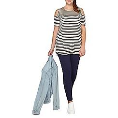 Dorothy Perkins - Dp curve navy high waisted leggings