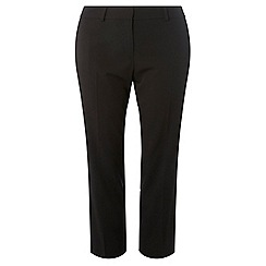 Dorothy Perkins - Curve black ankle grazer trousers