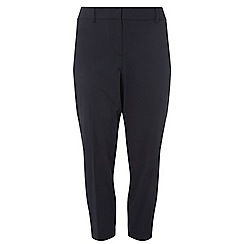 Dorothy Perkins - Curve navy ankle grazer trousers