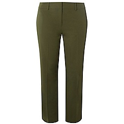 Dorothy Perkins - Curve khaki ankle grazer trousers