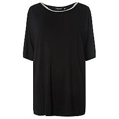 Dorothy Perkins - Curve black embellished neck top