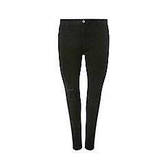 Dorothy Perkins - Curve black rip darcy jeans
