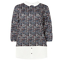 Dorothy Perkins - Curve multi coloured 2-in-1 shirt top