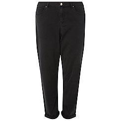 Dorothy Perkins - Curve black boyfriend washed jeans