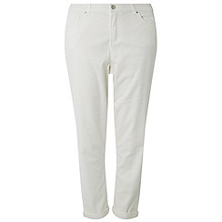 Dorothy Perkins - Curve white washed boyfriend jeans