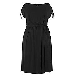 Dorothy Perkins - Dp curve black jersey midi dress