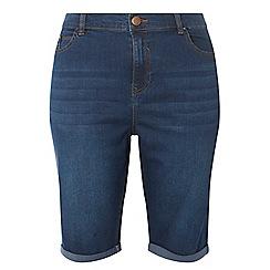Dorothy Perkins - Curve blue midwash knee shorts