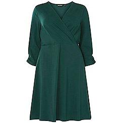 Dorothy Perkins - Curve green jersey wrap dress