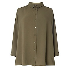 Dorothy Perkins - Curve khaki bubble utility shirt