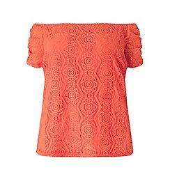 Dorothy Perkins - Curve pink lace bardot top