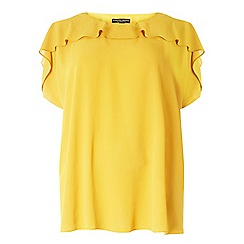 Dorothy Perkins - Dp curve ochre cold shoulder ruffle top
