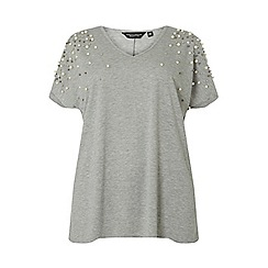 Dorothy Perkins - Curve grey metal ball jersey t-shirt