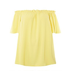 Dorothy Perkins - Curve yellow bardot top