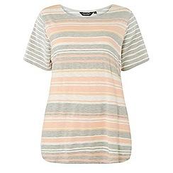 Dorothy Perkins - Curve multi coloured stripe t-shirt