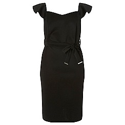 Dorothy Perkins - Curve black ruffle scuba dress