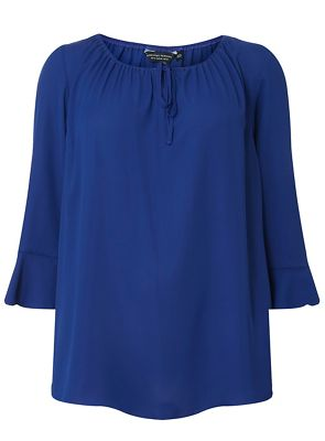 Dorothy Perkins   Curve Cobalt Gypsy Shoulder Blouse by Dorothy Perkins
