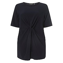 Dorothy Perkins - Curve navy knot front tunic top