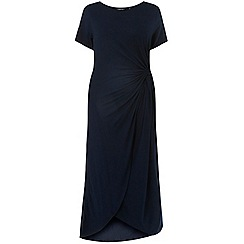 Dorothy Perkins - Curve navy side-knot midi dress