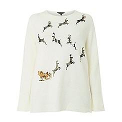 Dorothy Perkins - Curve ivory reindeer jumper