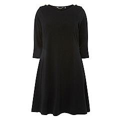 Dorothy Perkins - Curve black shoulder button skater dress
