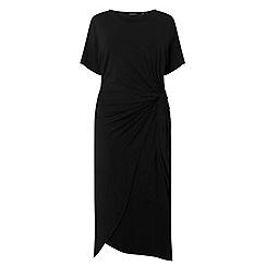 Dorothy Perkins - Curve black manipulated shift dress