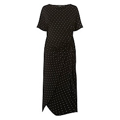 Dorothy Perkins - Curve black spotted manipulate shift dress