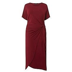 Dorothy Perkins - Curve wine manipulated shift dress