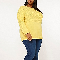 Dorothy Perkins - Curve ochre maggie cable jumper