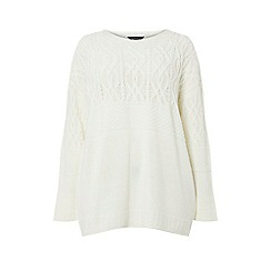 Dorothy Perkins - Curve ivory maggie cable jumper