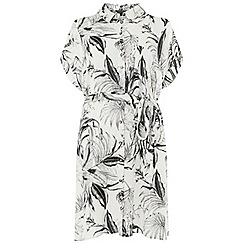 Dorothy Perkins - Curve monochrome floral shirt dress