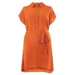 Dorothy Perkins - Curve terracotta shirt dress