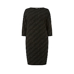 Dorothy Perkins - Curve black glitter shift dress