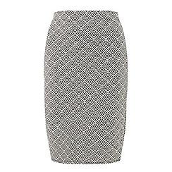 Dorothy Perkins - Curve monochrome jacquard pencil skirt