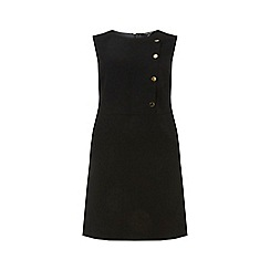 Dorothy Perkins - Curve black button skater dress