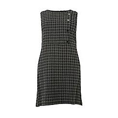 Dorothy Perkins - Curve grey check button pencil dress