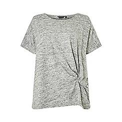 Dorothy Perkins - Curve grey twist side t-shirt