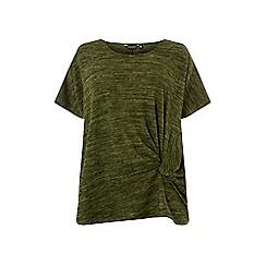Dorothy Perkins - Curve khaki twist side t-shirt
