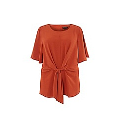 Dorothy Perkins - Curve rust manipulated top
