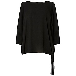 Dorothy Perkins - Curve black tie side blouse