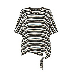 Dorothy Perkins - Curve multi coloured stripe brushed knot t-shirt