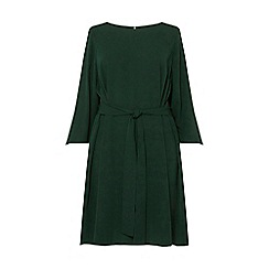Dorothy Perkins - Green Tie Waist Knot Detail Skater Dress