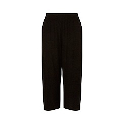 Dorothy Perkins - Curve Black Crinkle Culottes Trousers