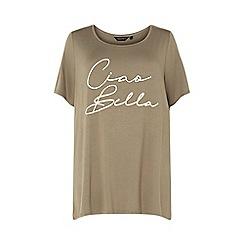 Dorothy Perkins - Curve 'Ciao Bella' slogan t-shirt