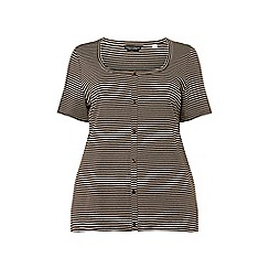 Dorothy Perkins - Curve stripe button down top